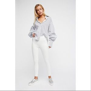 Free People Easy Goes It Jeans Pull On White 25